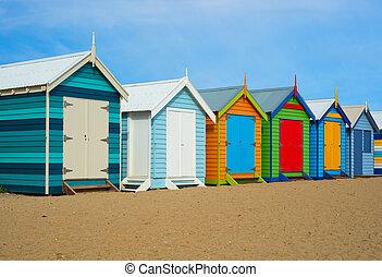 melbourne, casas, playa