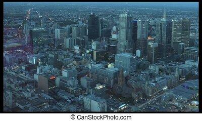 Melbourne CBD Timelapse - MELBOURNE - APR 14, 2014:Aerial...