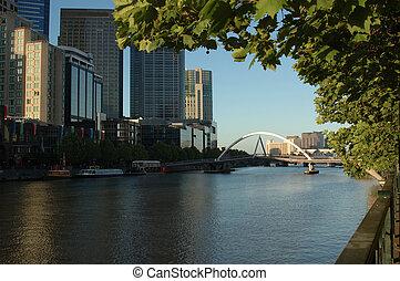 Melbourne City - The foot-bridge that connects...