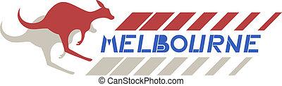 melbourne, kangourou