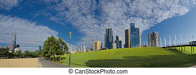 Melbourne on a summer day