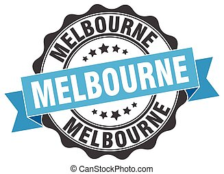 Melbourne round ribbon seal