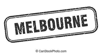 Melbourne stamp. Melbourne black grunge isolated sign