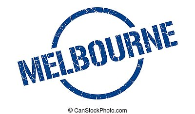 Melbourne stamp. Melbourne grunge round isolated sign