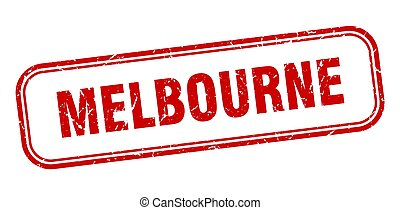 Melbourne stamp. Melbourne red grunge isolated sign