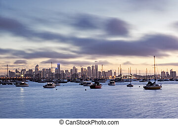 Melbourne Sunrise from Williamstown