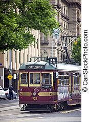 Melbourne Tram - Melbourne, Australia - November 14, 2011: ...