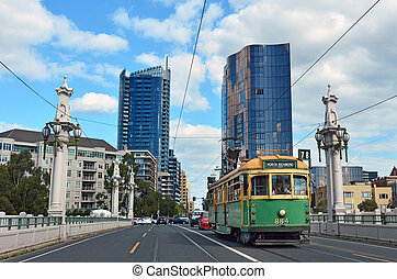 Melbourne tramway network - MELBOURNE, AUS - APR 14 2014:...