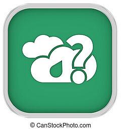 meldingsbord, bewolkt, regen, waarschijnlijk, hoeveelheid, kleine