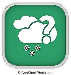meldingsbord, bewolkt, waarschijnlijk, hoeveelheid, sneeuw, kleine