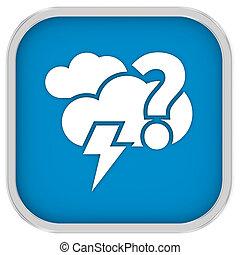 meldingsbord, bewolkt, waarschijnlijk, mainly, mogelijkheid, lightning