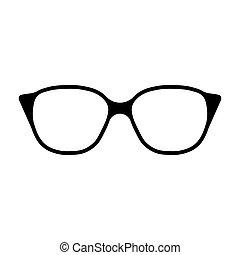 meldingsbord, bril, pictogram