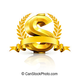 meldingsbord, dollar, embleem