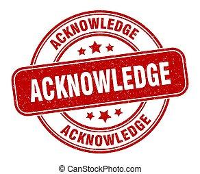 meldingsbord, grunge, label., ronde, acknowledge, stamp.
