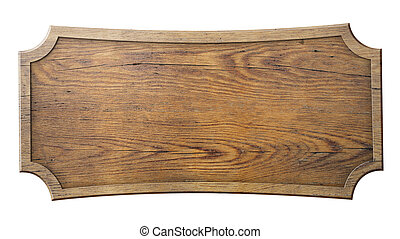 meldingsbord, hout, vrijstaand, witte