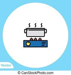 meldingsbord, kachels, vector, symbool, plat, gas, pictogram