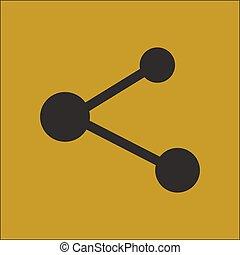 meldingsbord, symbool., aandeel