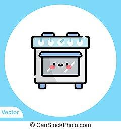 meldingsbord, symbool, pictogram, vector, gas, plat, kachels