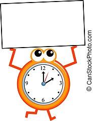 meldingsbord, tijd