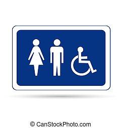 meldingsbord, toilette