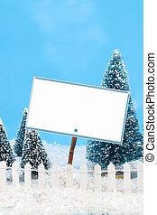 meldingsbord, winter