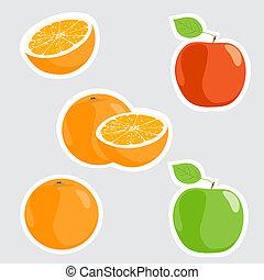 mele, arance