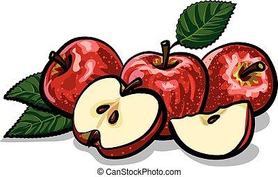 mele, rosso