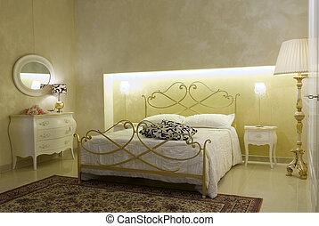 meleg, klasszikus, hálószoba