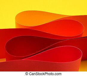meleg, szín, körív, lenget, forma