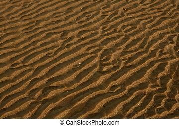 meleg, szín, napnyugta, tenger, homok, felszín