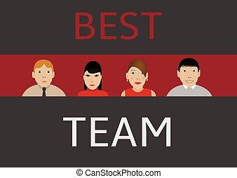 melhor, equipe negócio