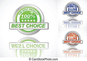 melhor, escolha, cor, etiqueta, jogo, branco, fundo