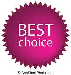 melhor, escolha