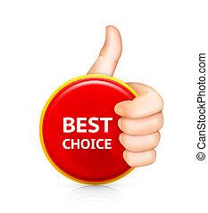 melhor, escolha, vetorial