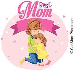 melhor, mãe, ícone