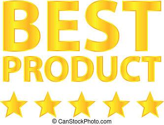 melhor, produto, cinco, estrela, ouro, distinção
