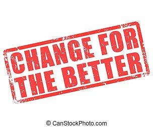 melhor, selo, mudança