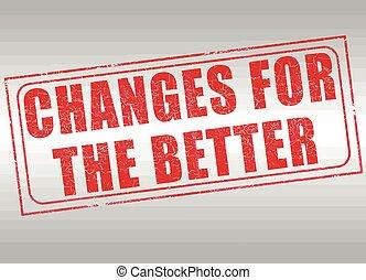 melhor, selo, mudanças