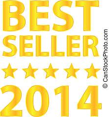 melhor, vendedor, cinco, estrelas, dourado, distinção
