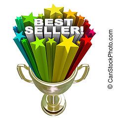melhor, vendedor, troféu, topo, vendas, item, vendedor