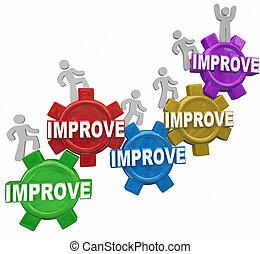 melhorado, palavra, engrenagens, pessoas, levantar, aumento,...