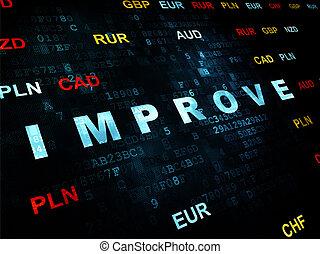 melhorar, concept:, fundo, negócio, digital