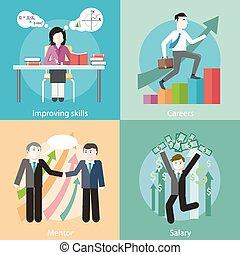 melhorar, habilidades, mentor, salário, carreiras