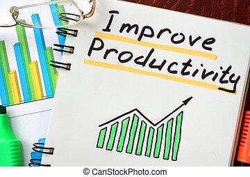 melhorar, produtividade