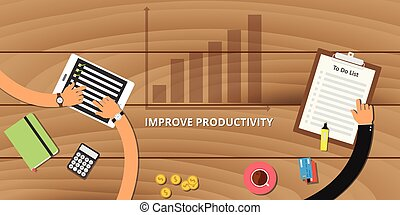 melhorar, produtividade, conceito