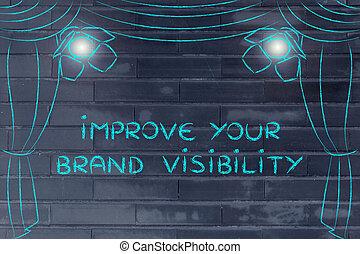 melhorar, seu, marca, visibilidade, internet vender, conceitos, fase