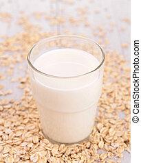 melk, graan