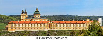 Melk Panorama - Famous Baroque Abbey (Stift Melk), Austria -...