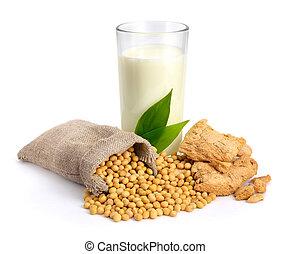 melk, vlees, soybean, seed.