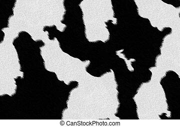 melkkoe, vacht, (skin), achtergrond, of, textuur